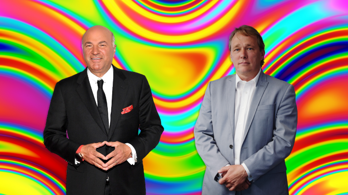 Kevin O'Leary and Mind Med cofounder standing together